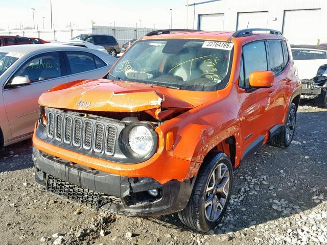 Jeep Renegade Orange >> 2015 Jeep Renegade L Orange Zaccjbbt0fpb66287 Price History History Of Past Auctions