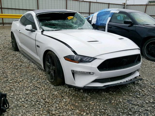White Mustang Gt >> 2018 Ford Mustang Gt White 1fa6p8cf1j5138001 Price History History Of Past Auctions