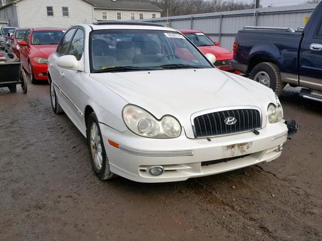 kmhwf35hx2a577877 2002 hyundai sonata gls white price history history of past auctions prices and bids history of salvage and used vehicles cars bids history