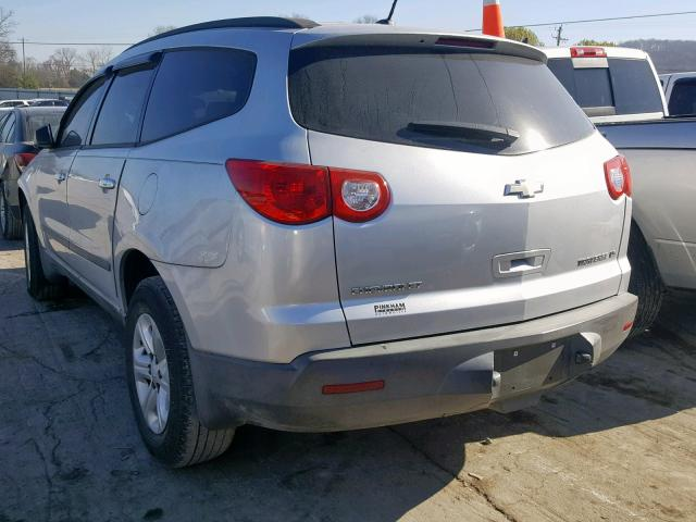 1GNLREED9AS102714 - 2010 CHEVROLET TRAVERSE L SILVER photo 3