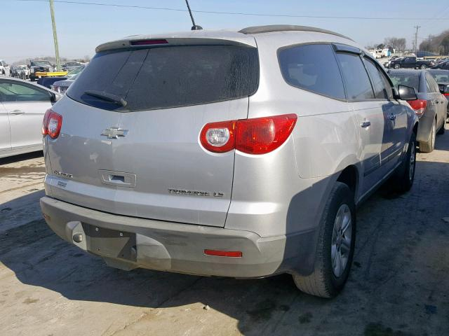 1GNLREED9AS102714 - 2010 CHEVROLET TRAVERSE L SILVER photo 4