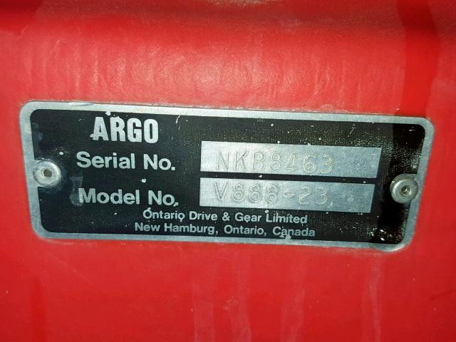 NKB8463V88823 - 1988 ARGO V88823 ORANGE photo 10