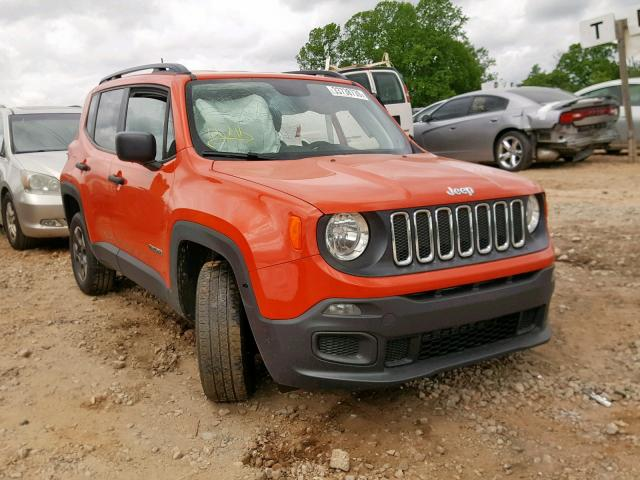 Jeep Renegade Orange >> 2018 Jeep Renegade S Orange Zaccjbab8jph14413 Price History History Of Past Auctions