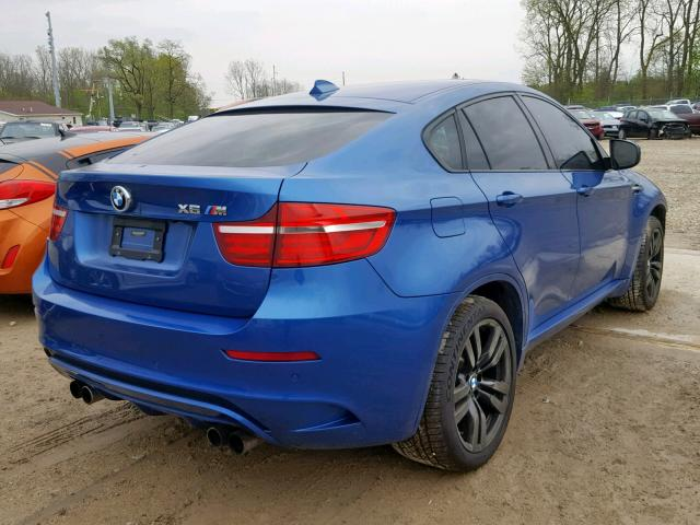5YMGZ0C56E0C40523 - 2014 BMW X6 M BLUE photo 4