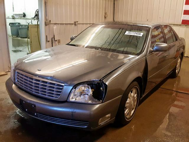 1G6KD54Y15U258041 - 2005 CADILLAC DEVILLE GRAY photo 2