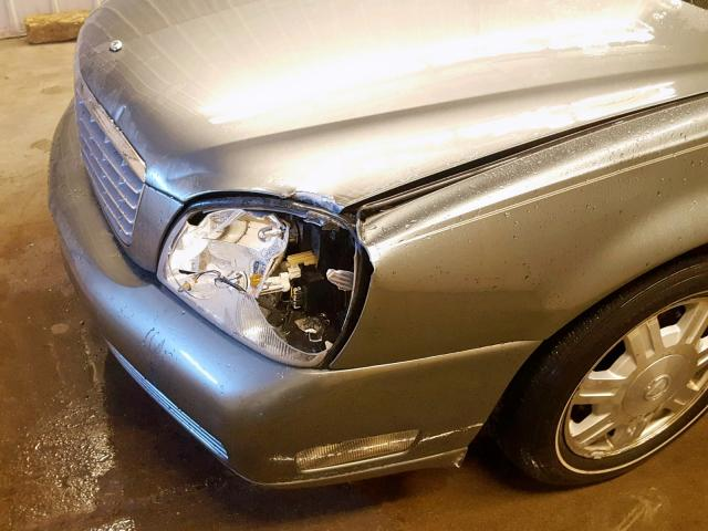 1G6KD54Y15U258041 - 2005 CADILLAC DEVILLE GRAY photo 9