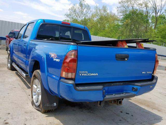 2008 TOYOTA TACOMA DOU, BLUE, 5TEMU52N38Z580884 -, price history, history  of past auctions