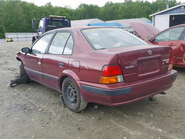 jt2bc52l3t7040226 1996 toyota tercel dx red price history history of past auctions prices and bids history of salvage and used vehicles cars bids history
