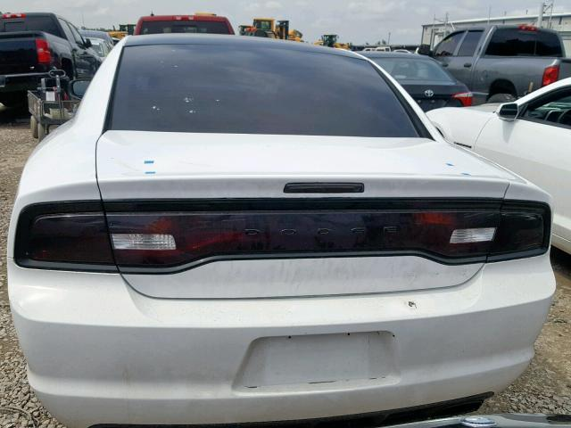 2C3CDXBG3DH639676 - 2013 DODGE CHARGER SE WHITE photo 10