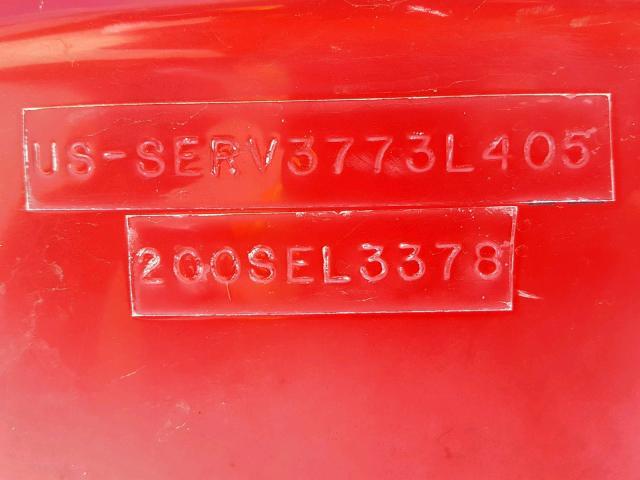 SERV3773L405 - 2005 SEAR MARINE LOT RED photo 10