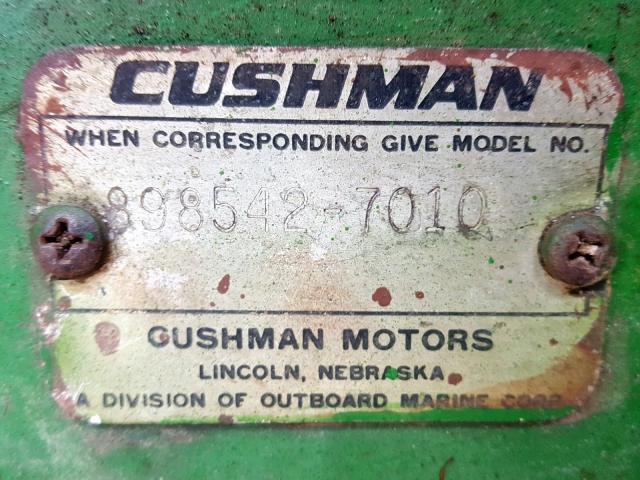 8985427010 - 2007 CUSH CART GREEN photo 10