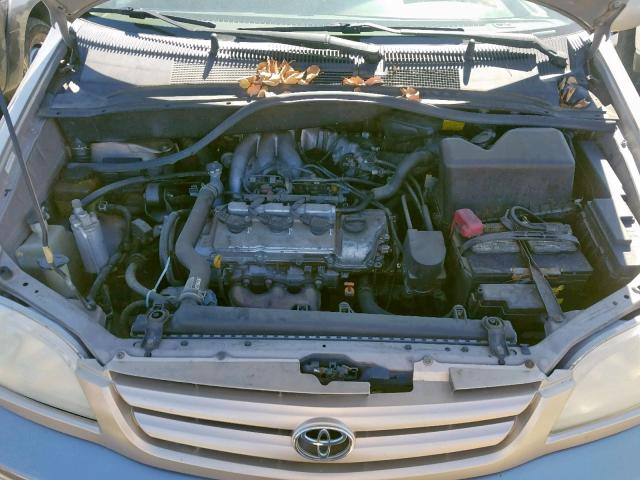 4T3ZF13C31U345862 - 2001 TOYOTA SIENNA LE GOLD photo 7