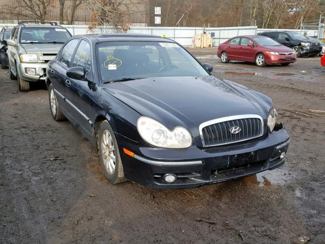 kmhwf35h22a688259 2002 hyundai sonata gls black price history history of past auctions prices and bids history of salvage and used vehicles cars bids history