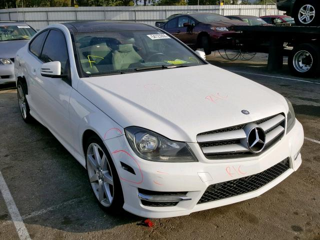 2013 MERCEDES-BENZ C250, WHITE, WDDGJ4HB9DG003278 -, price history, history  of past auctions