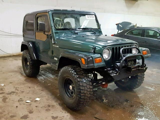 Green Jeep Wrangler >> 1999 Jeep Wrangler Green 1j4fy29p6xp481639 Price History History Of Past Auctions