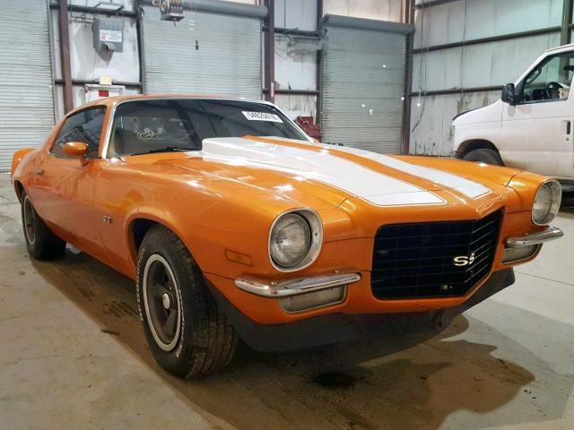 1973 CHEVROLET CAMARO SS, ORANGE, 1Q87H3N117404 -, price history, history  of past auctions