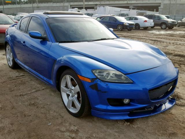 Used Mazda Rx8 >> 2004 Mazda Rx8 Blue Jm1fe17n740128485 Price History History Of Past Auctions