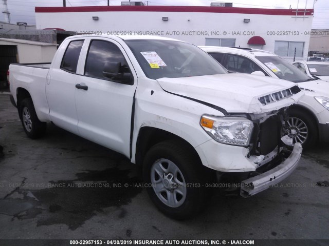 5tfrm5f19gx101175 2016 Toyota Tundra Double Cab Sr Sr5 White Price History History Of Past Auctions Prices And Bids History Of Salvage And Used Vehicles