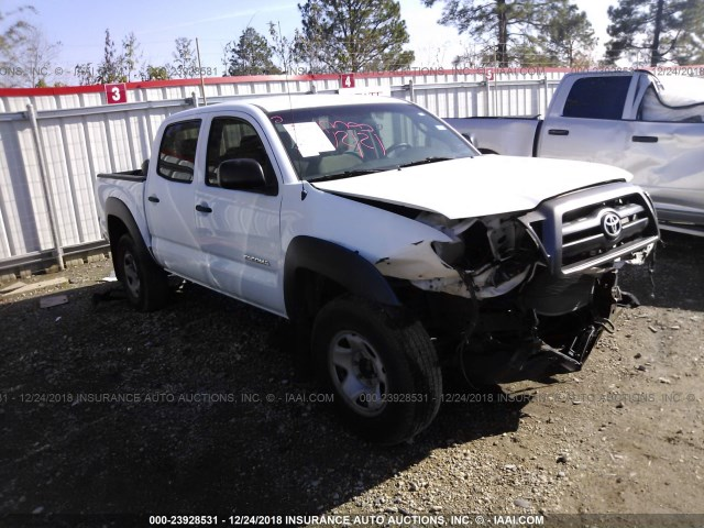 5TEJU62N18Z498905 - 2008 TOYOTA TACOMA DOUBLE CAB PRERUNNER, RED