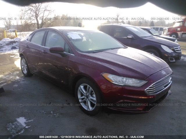 Fusion Auto Auction >> 2018 Ford Fusion Se Red 3fa6p0hd3jr222584 Price History History Of Past Auctions