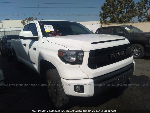 5tfuy5f11gx490232 2016 Toyota Tundra Double Cab Sr Sr5 White Price History History Of Past Auctions Prices And Bids History Of Salvage And Used Vehicles