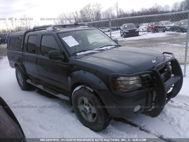 2001 NISSAN FRONTIER CREW CAB XE/CREW CAB SE, GREEN, 1N6ED27Y61C309101 -,  price history, history of past auctions