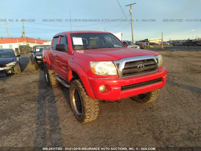 2005 Toyota Tacoma Double Cab >> 2005 Toyota Tacoma Double Cab Red 5telu42n05z041124 Price History History Of Past Auctions
